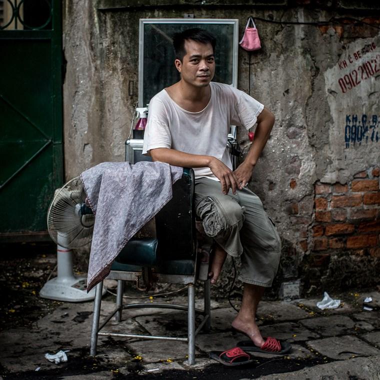 barbier de rue Hanoï