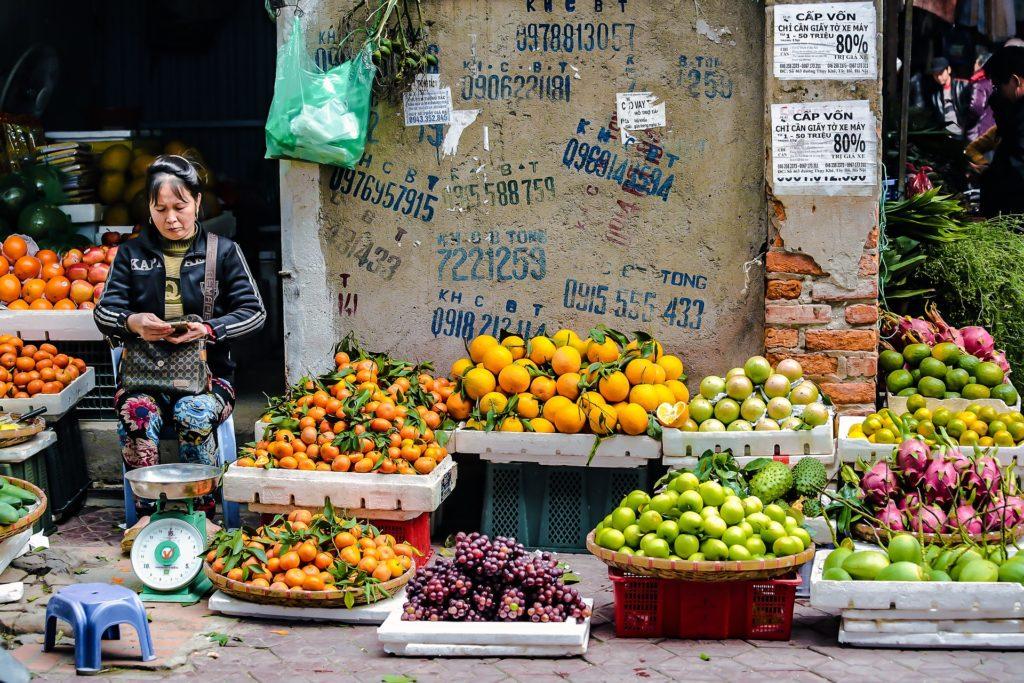 hanoi marchés traditionnels