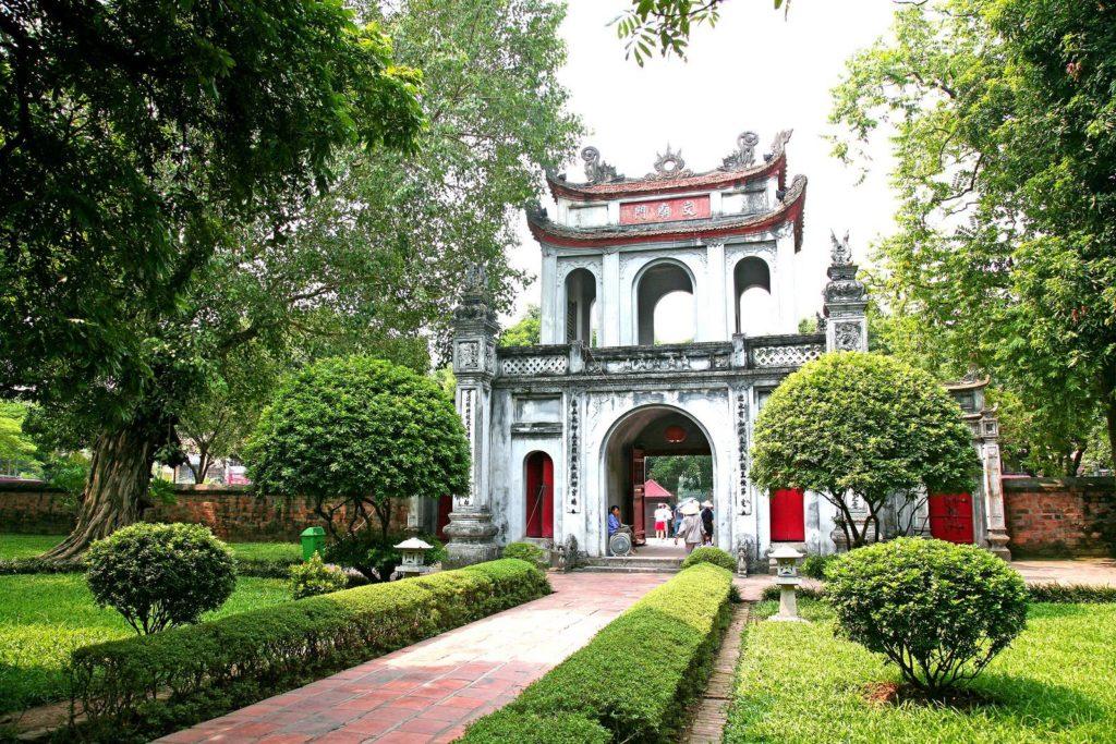 la visite du templs de la litterature